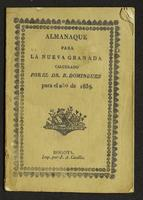 Almanaque para la Nueva Granada. Calculado (1839)