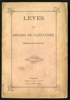 Leyes del Estado de Santander compiladas en el año de 1875 (1875)