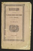Manifestación que hace el Jeneral Manuel María Franco a la Nación, de su conducta en la campaña del Sur (1853)