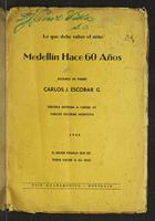 Lo que debe saber el niño. Medellín hace 60 años (1946)