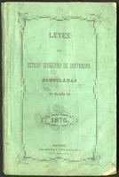 Leyes del Estado de Santander compiladas en el año de 1876 (1876)