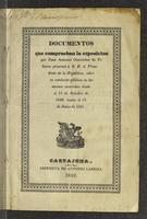 Documentos que comprueban la exposición que Juan Antonio Gutiérrez de Piñeres presentó a S. E. el Presidente de la República, sobre su conducta pública en los sucesos ocurridos desde el 18 de Octubre de 1840 hasta el 5 de Junio de 1841 (1842)