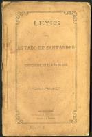 Leyes del Estado de Santander compiladas en el año de 1873 (1873)
