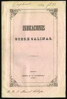 Indicaciones sobre Salinas (1854)