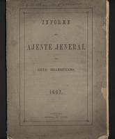 Informe del Ajente Jeneral de Bienes Desamortizados 1867 (1867)