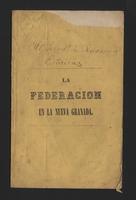 La federación en la Nueva Granada (1852)