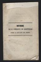 Informe de la comisión de arbitros sobre la situación del tesoro (1849)