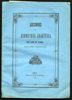Lecciones de jeometría analítica (1850)