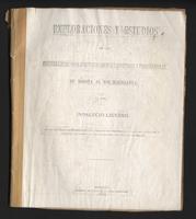 Exploraciones y estudios de las mejores líneas para construir carreteras y ferrocarriles de Bogotá al Rio Magdalena (1885)