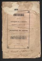 Informe que el gobernador de la provincia presenta a su sucesor al entregar el mando (1845)