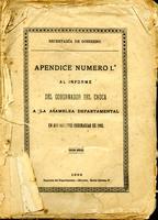 Apéndice número 1 al informe del gobernador del Cauca a la Asamblea Departamental en sus sesiones ordinarias (1892)