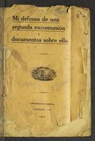 Mi defensa de una segunda excomunión y documentos sobre ella (1921)