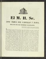 El M. S. H. Sr. José María del Castillo y Rada, delante de los hombres ilustrados