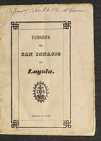 Sermón que en la primera fiesta de S. Ignacio de Loyola hecha por los P.P. Jesuítas después de su reestablecimiento en la Nueva Granada, pronunció el día 31 de Julio de 1844. (1844)