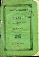 Decreto orgánico del diezmo en la arquidiócesis de Santa Fé de Bogotá (1871)